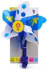 Fietsversiering windmolentje blauw