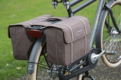Dubbele fietstassen Bolzano taupe