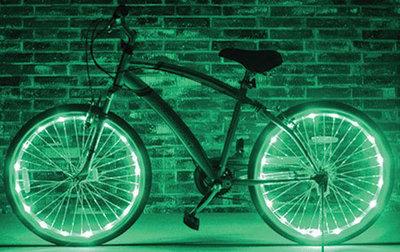 Fietswielverlichting LED groen (voor 1 fietswiel)
