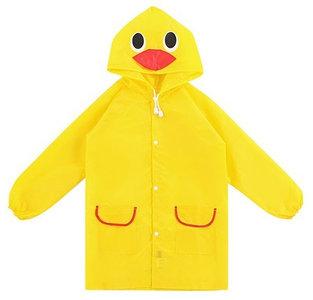 kinder regenjas geel eend