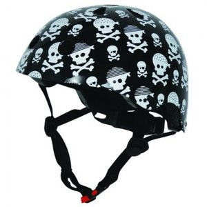 fietshelm skelet zwart