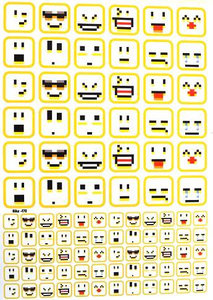 Fietsstickers Emoji's digital