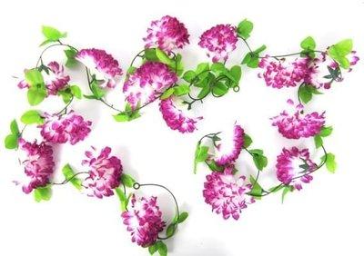 bloemenslingers fietsslingers paarse bloemen