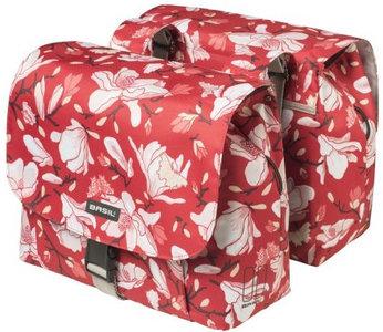 kinderfietstassen meisjesfietstassen bloemen rood basil