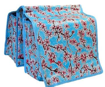 fietstas kitsch kitchen bloemen blauw