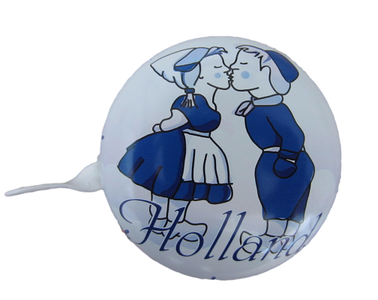 fietsbel delfts blauw kussend paartje holland