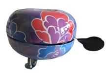 fietsbellen fietsbel bloemen paars