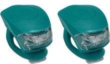 Fietslichten fietslampjes petrol blauw groen