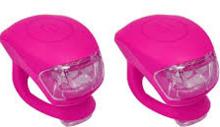 Fietsverlichting led roze