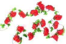 bloemenslingers fietsslingers rood bloem