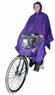 regenponcho fiets paars