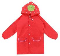 kinder regenjas rood