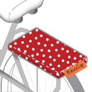 fietskussen polkadot rood