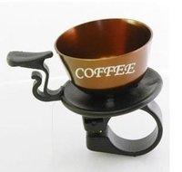 fietsbel koffie kopje bruin